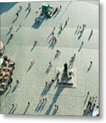 Aerial View Of  Neumarkt Square In Metal Print