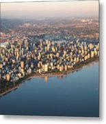 Aerial View Of Stanley Park And Metal Print