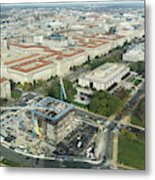 Aerial View Of The Smithsonian National Museum Of African Americ Metal Print