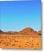 African Desert Panorama Metal Print