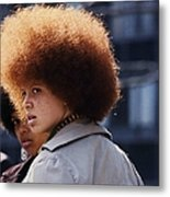 Afro Hairstyle In United States In Metal Print