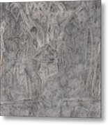 After Billy Childish Pencil Drawing 1 Metal Print