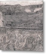 After Billy Childish Pencil Drawing 18 Metal Print