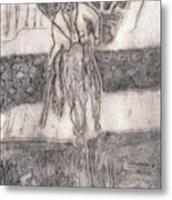 After Billy Childish Pencil Drawing 24 Metal Print
