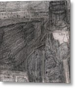 After Billy Childish Pencil Drawing 32 Metal Print