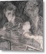 After Billy Childish Pencil Drawing 33 Metal Print