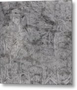 After Billy Childish Pencil Drawing 5 Metal Print