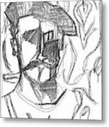 After Billy Childish Pencil Drawing B2-4 Metal Print