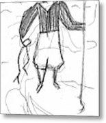 After Billy Childish Pencil Drawing B2-9 Metal Print