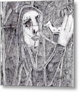 After Childish Edgeworth Pencil Drawing 10 Metal Print