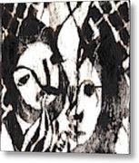 After Mikhail Larionov Black Oil Painting 14 Metal Print