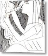 After Mikhail Larionov Pencil Drawing 1 Metal Print