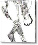 After Mikhail Larionov Pencil Drawing 12 Metal Print