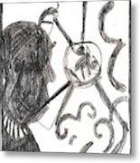 After Mikhail Larionov Pencil Drawing 13 Metal Print