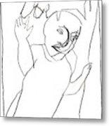 After Mikhail Larionov Pencil Drawing 16 Metal Print