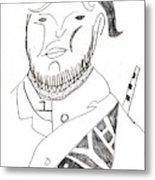 After Mikhail Larionov Pencil Drawing 2 Metal Print