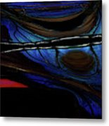 Aile De Papillon Bleu Metal Print