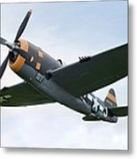 Airplane P-47 Thunderbolt From World Metal Print