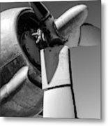 Airplane Propeller Metal Print