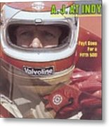 A.j. Foyt, 1981 Indy 500 Qualifying Sports Illustrated Cover Metal Print