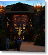 Ak Lodge Lobby Christmas Metal Print