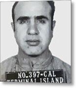 Al Capone Mugshot 1939 - T-shirt Metal Print