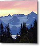 Alaska's Kenai Mountains At Dawn Metal Print