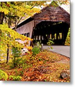 Albany Covered Bridge Near Conway, New Metal Print