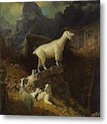Albert_bierstadt_-_rocky_mountain_goats Metal Print