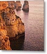 Algarve Coastline, Lagos, Portugal Metal Print