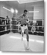 Ali In Training Metal Print