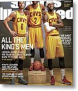 All The Kings Men 2014-15 Nba Basketball Preview Issue Sports Illustrated Cover Metal Print