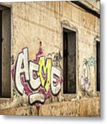 Alley Graffiti And Windows - Romania Metal Print