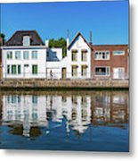 Along The Canal. Flanderenfietsroute.   Metal Print