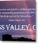 Alonzo Delano Grass Valley Quote Metal Print