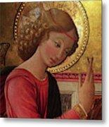 Altarpiece Angel Antique Christian Catholic Religious Art Metal Print