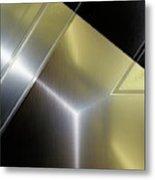 Aluminum Surface. Metallic Geometric Image.   Metal Print