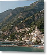 Amalfi On The Gulf Of Salerno Metal Print