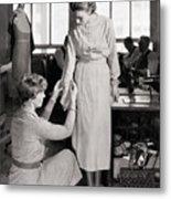 Amelia Earhart Adjusting Sleeve Metal Print