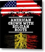 American Grown With Belgian Roots Metal Print