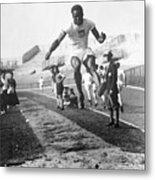 American Hubbard Wins Olympic Long Jump Metal Print