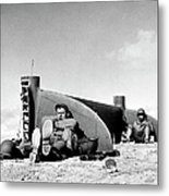 American Soldiers In Tunisia Wwii Metal Print
