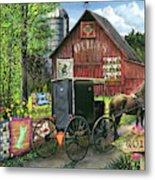 Amish Quilts Metal Print