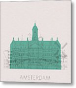 Amsterdam Landmarks Metal Print