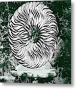 An Abstract Wooden Sculpture Metal Print