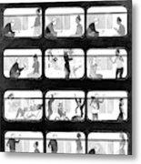An L Train Love Story Metal Print