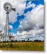 An Old Vintage Windmill Used To Pump Metal Print