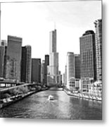 An Unknown Skyline Along The Chicago Metal Print