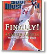 Anaheim Angels Troy Glaus, 2002 World Series Champions Sports Illustrated Cover Metal Print