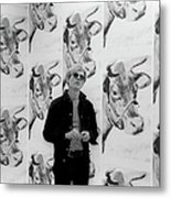 Andy Warhol And Cows Metal Print